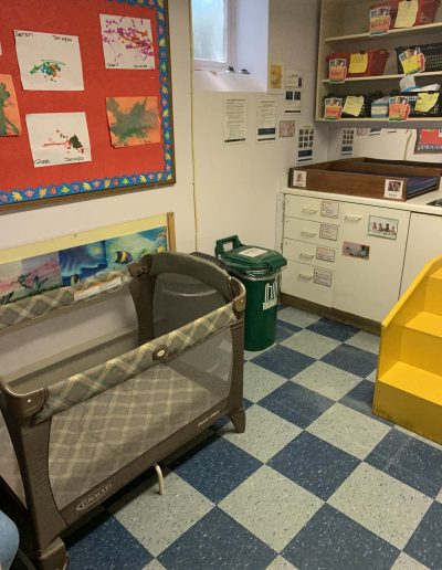 Infant Change & Cubby Area